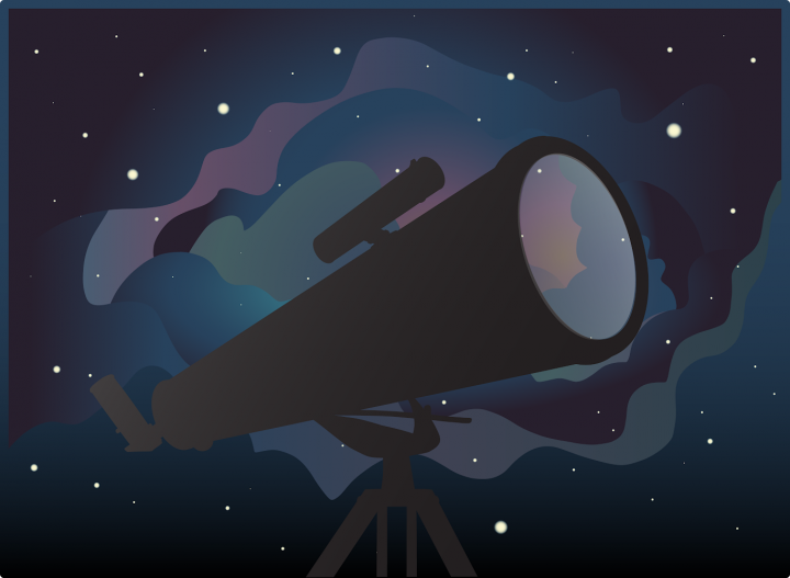 Release art for Telescope created by Grace Flader